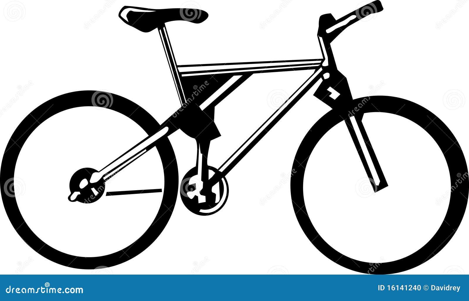 Bicicleta Blanco Y Negro Foto De Archivo Imagen 16141240