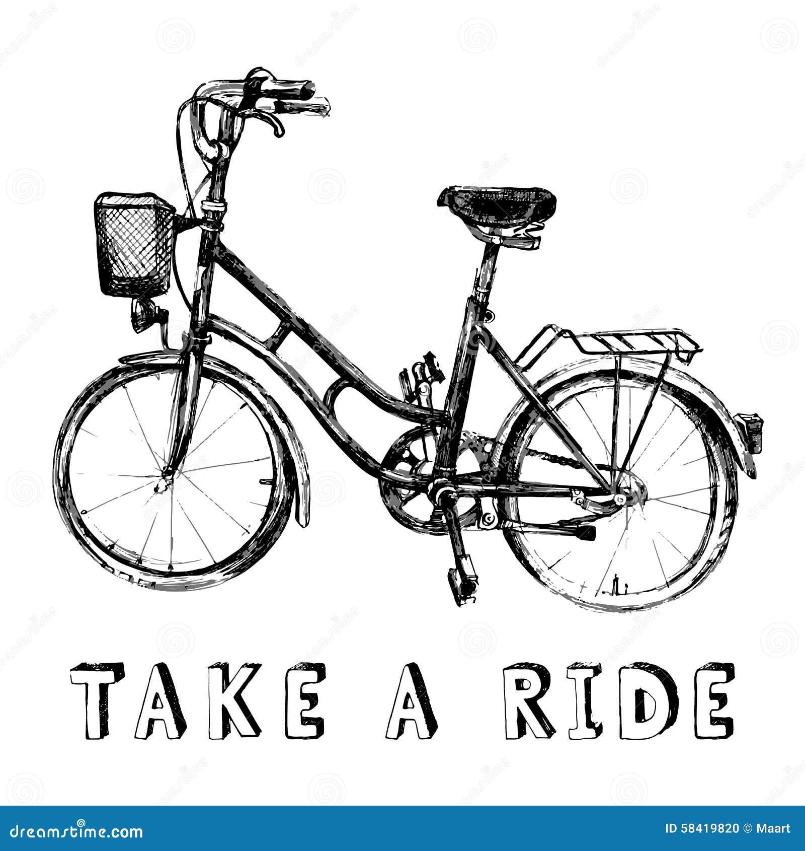 Bicicleta drenada mano