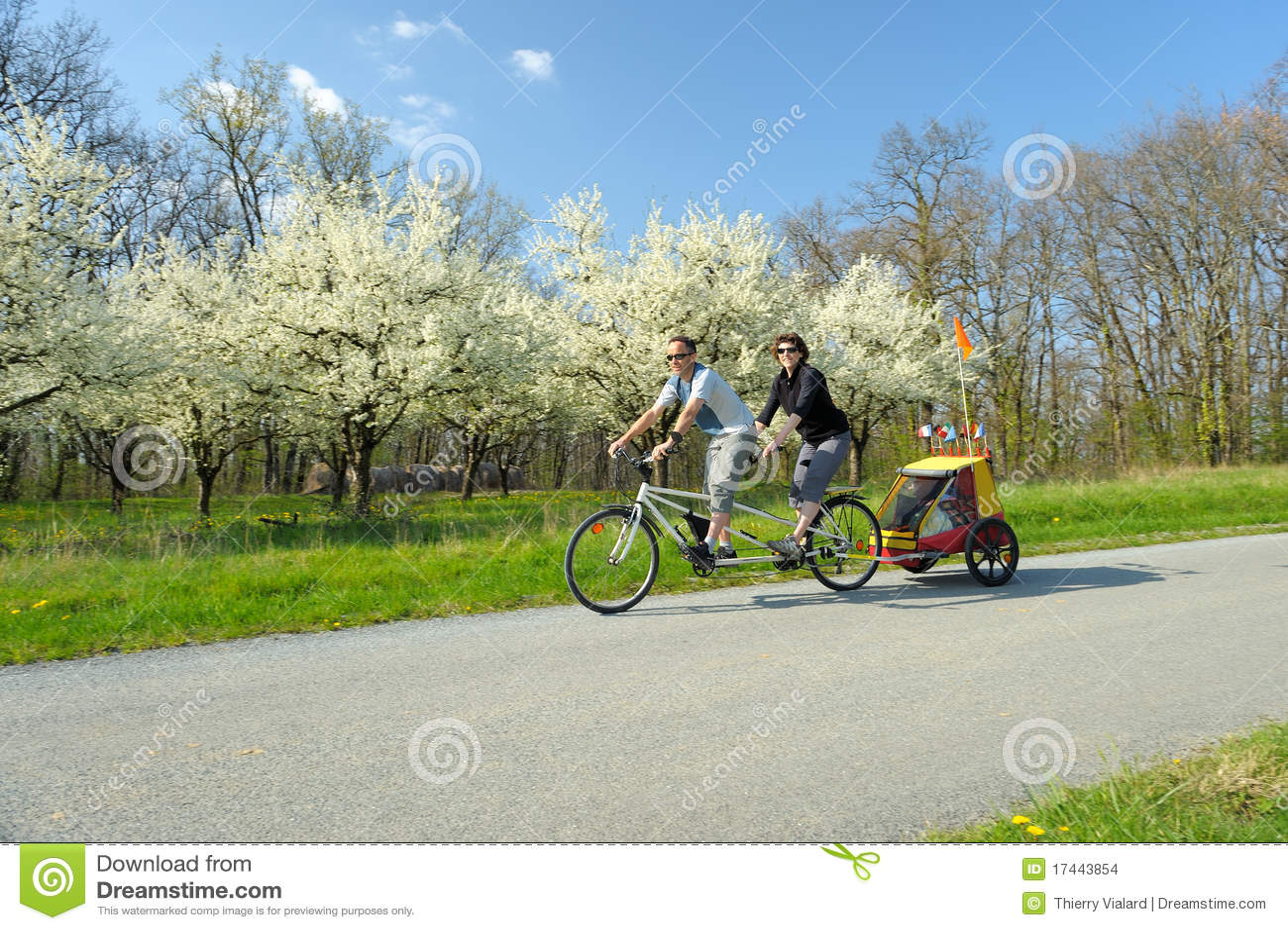 Bicicleta en tándem dos