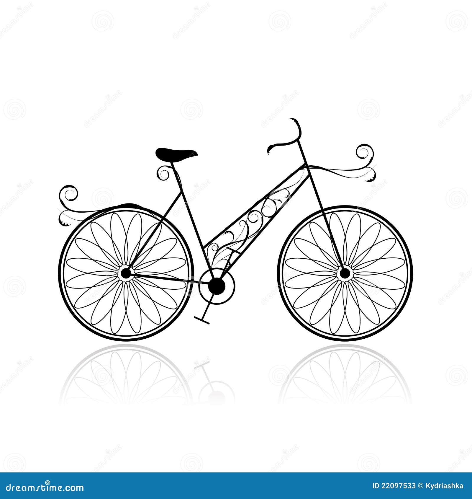 Bicicleta femenina para su dise o fotos de archivo for Disenos para bicicletas