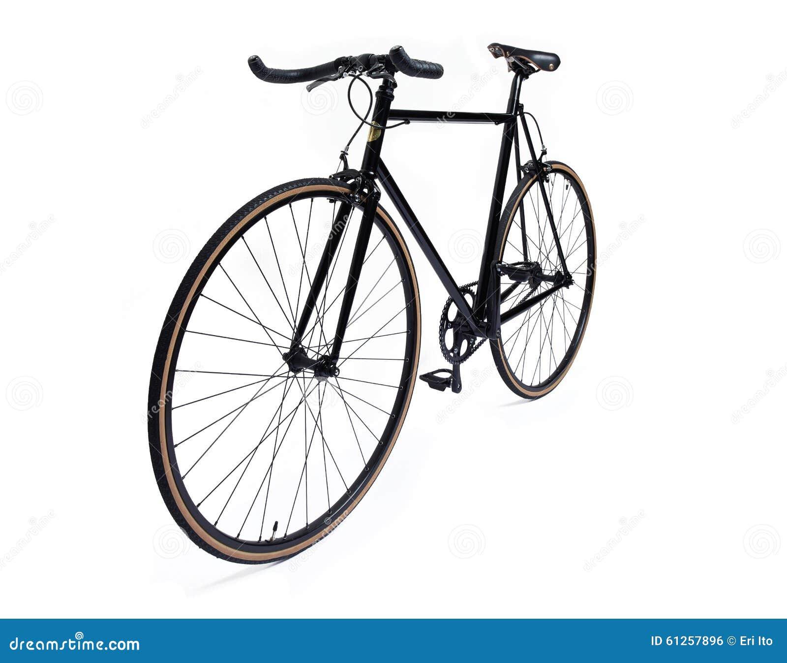 Bicicleta fija negra del engranaje
