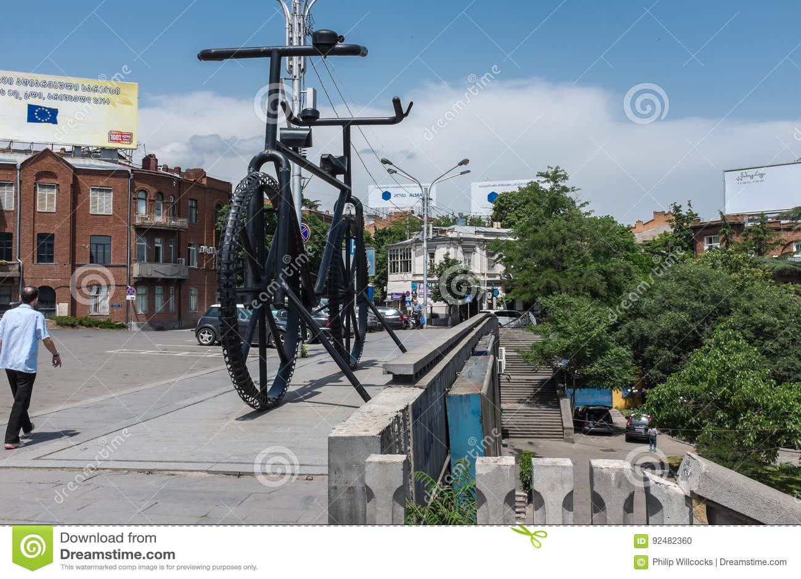 Bicicleta gigante do metal, Tbilisi, Geórgia