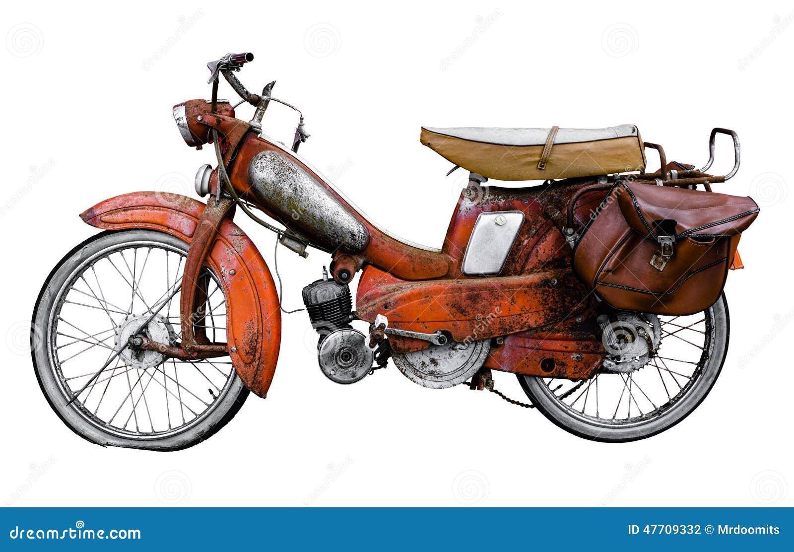 Bicicleta motorizada do francês do vintage