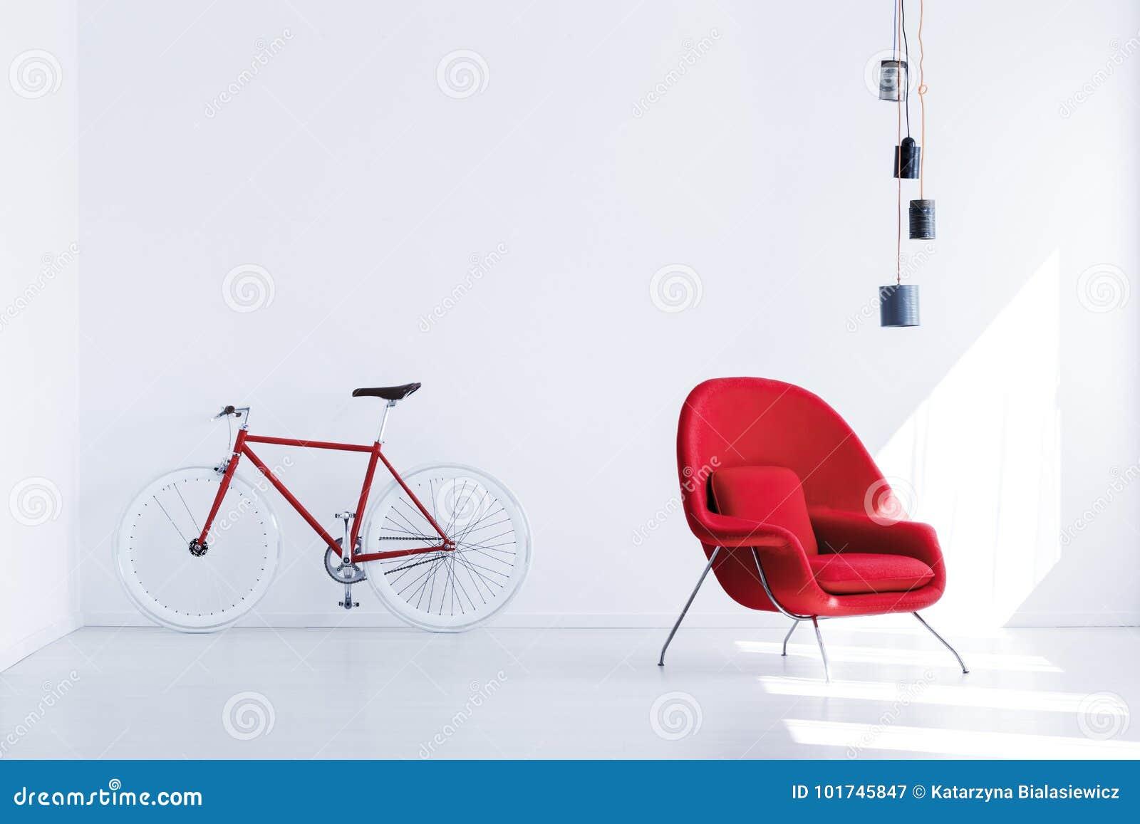 Bicicleta na sala de espera