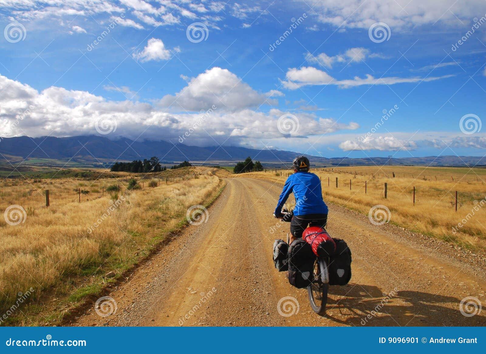 Bicicleta que viaja en Nueva Zelandia