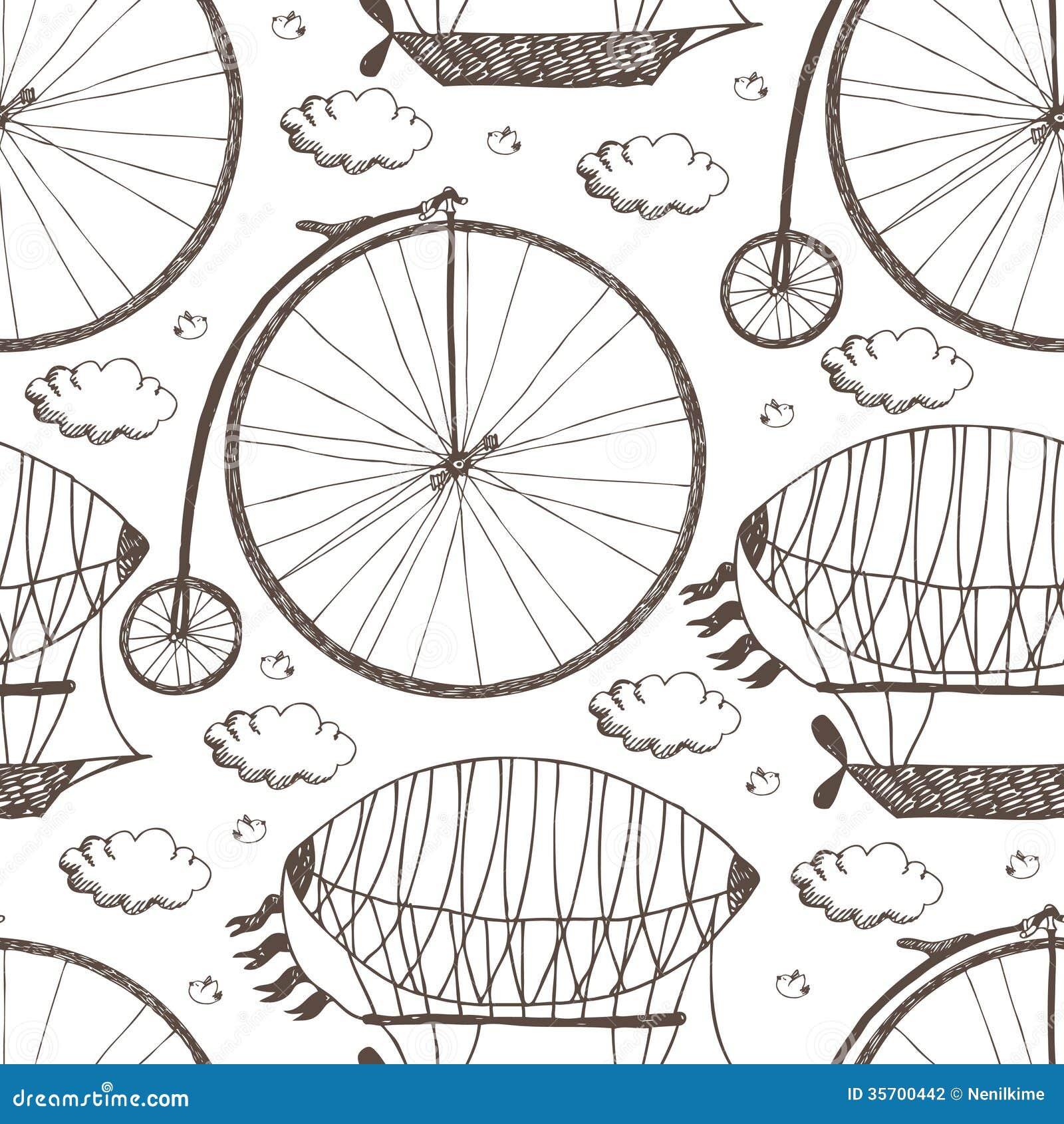 Bicicleta y dirigibles de la rueda grande