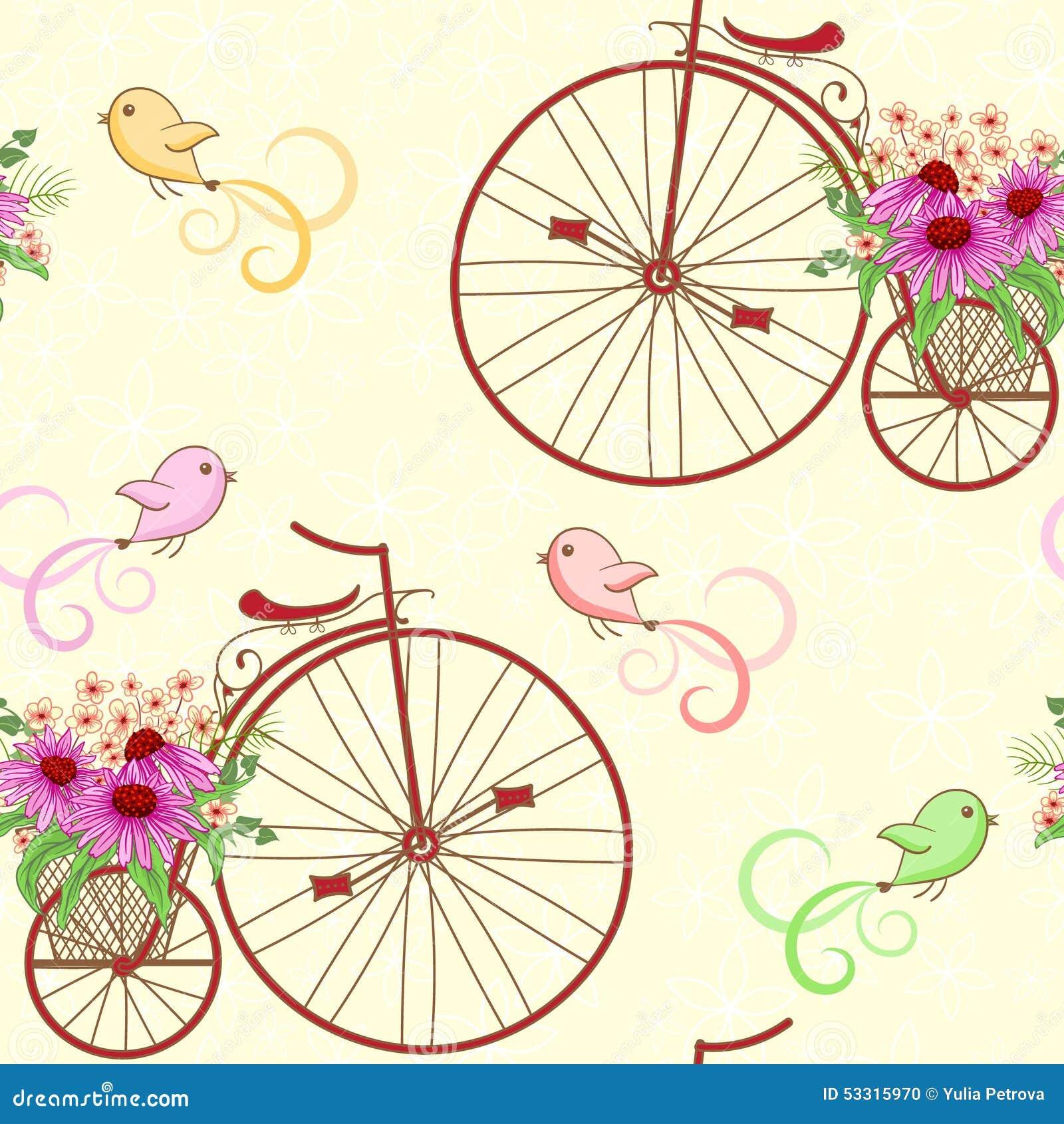 Bicicletas incons tiles del vintage del modelo ilustraci n for Disenos para bicicletas