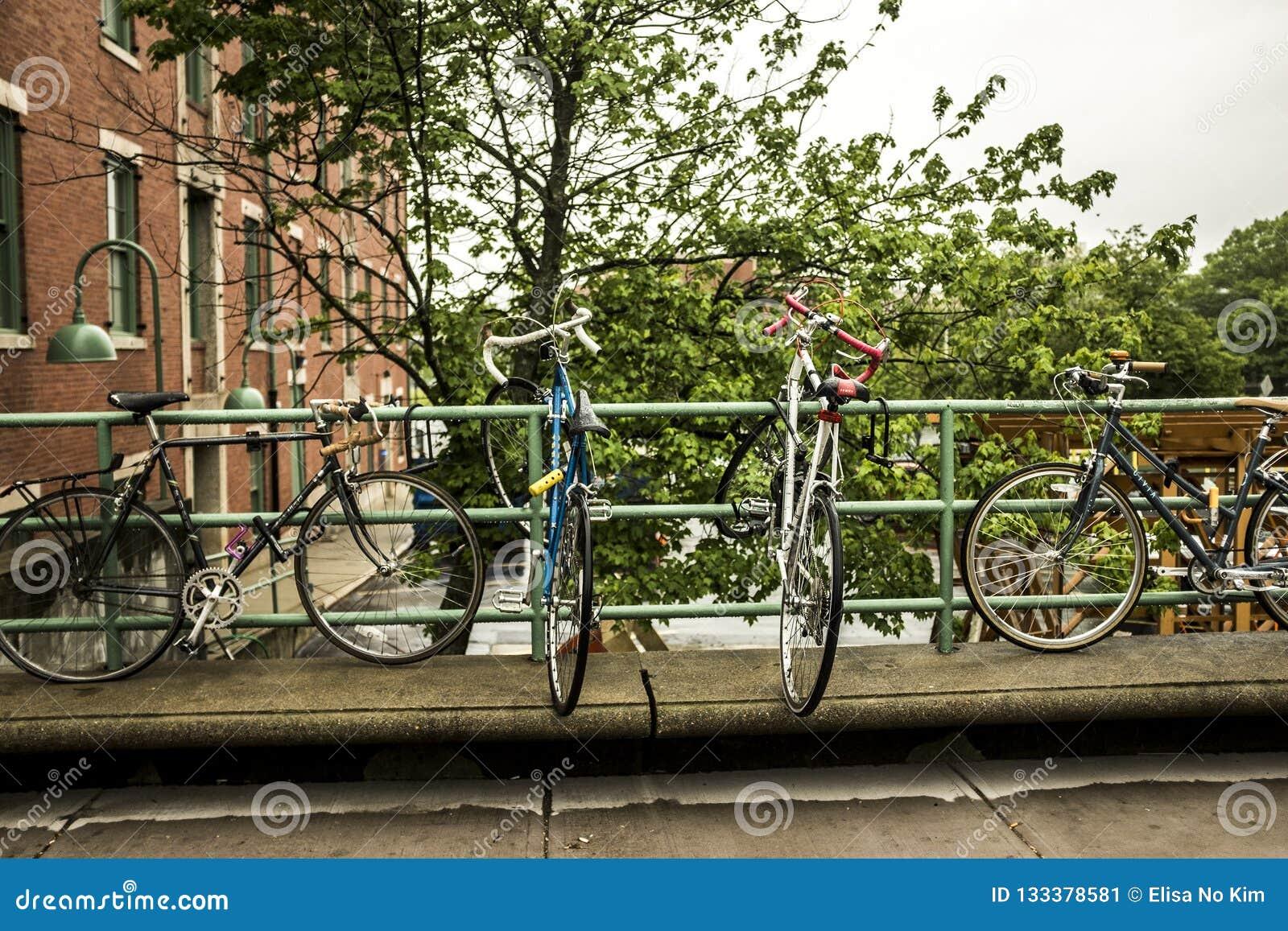 Bicicletta su uno scaffale