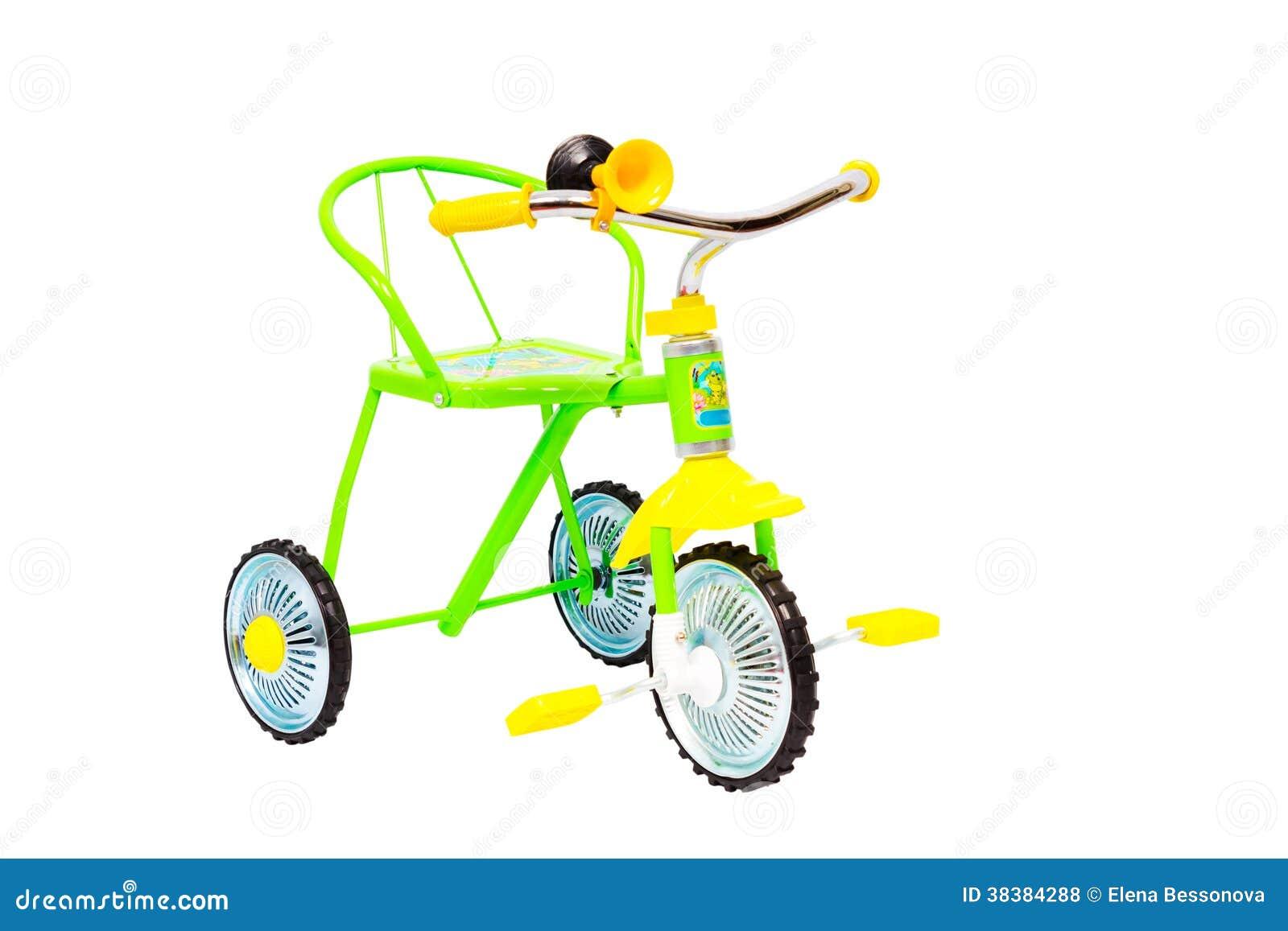 Bicicletta a tre ruote per i bambini fotografie stock for Bicicletta per tre persone
