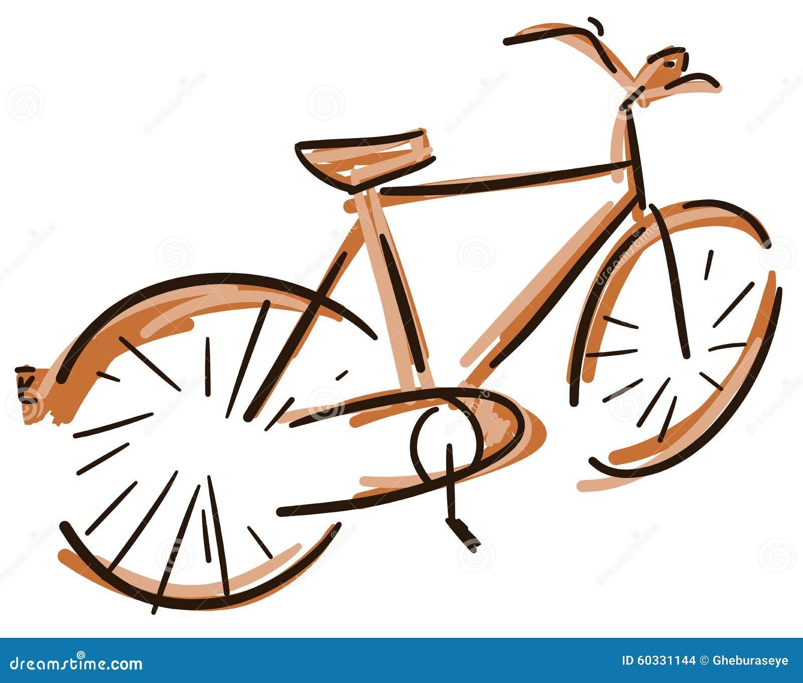Bicicletta Variopinta Stilizzata Illustrazione Vettoriale