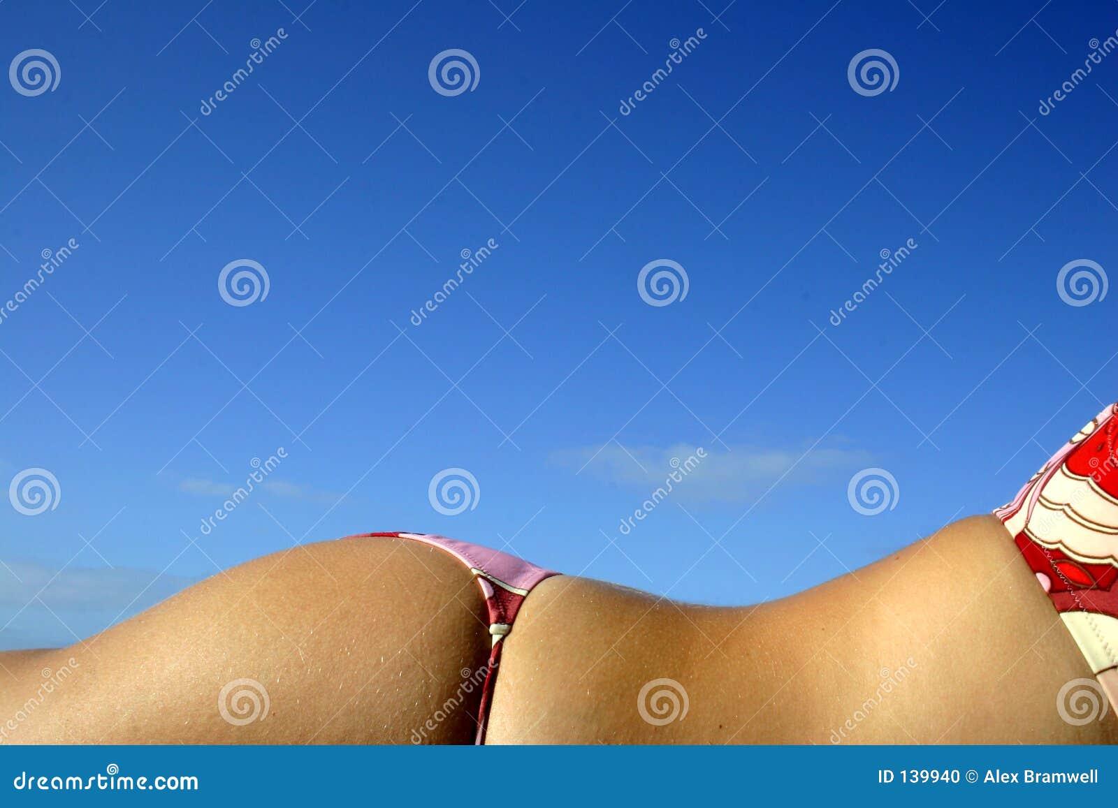 Bickini sunbathe back