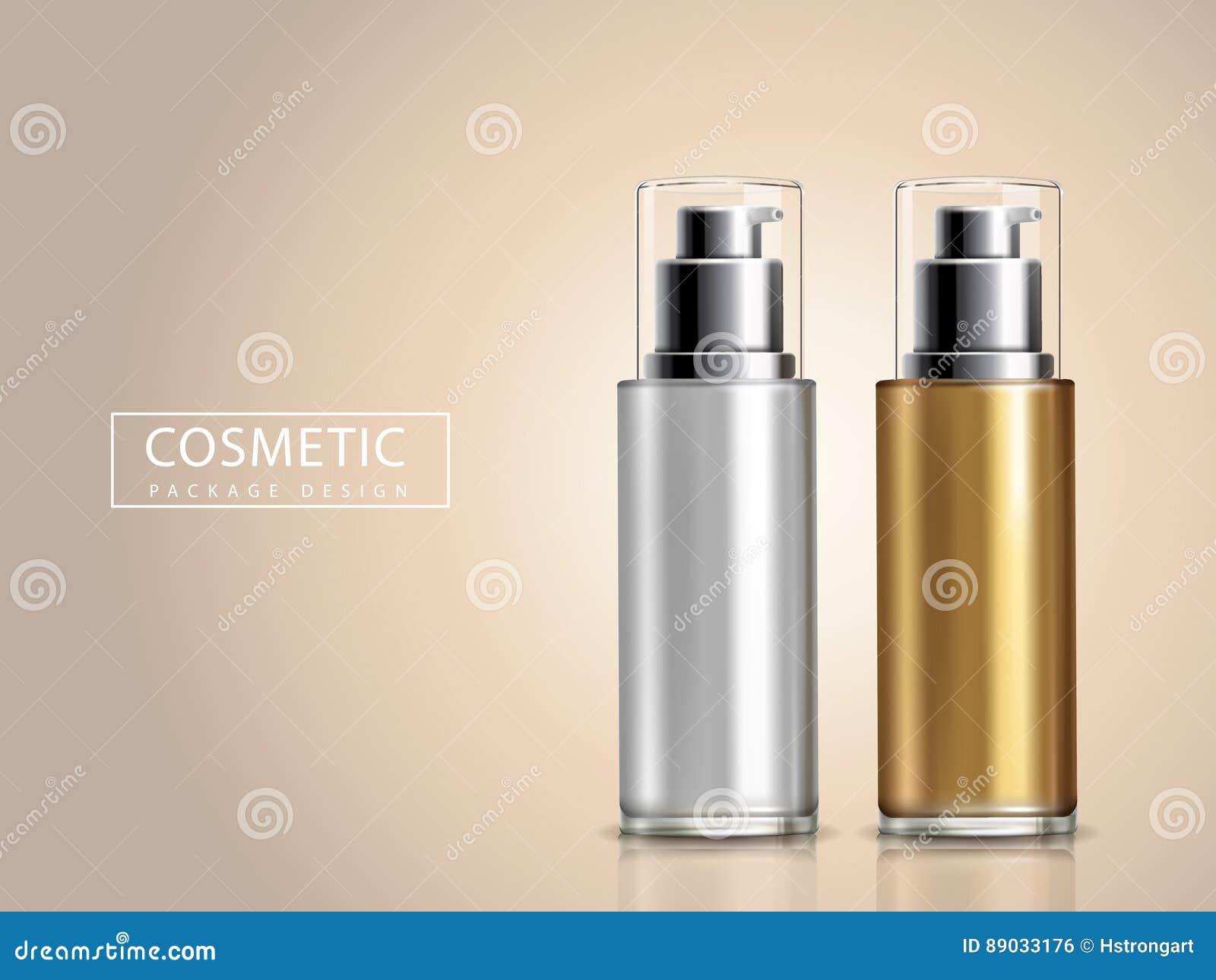 Bicolor cosmetic bottles