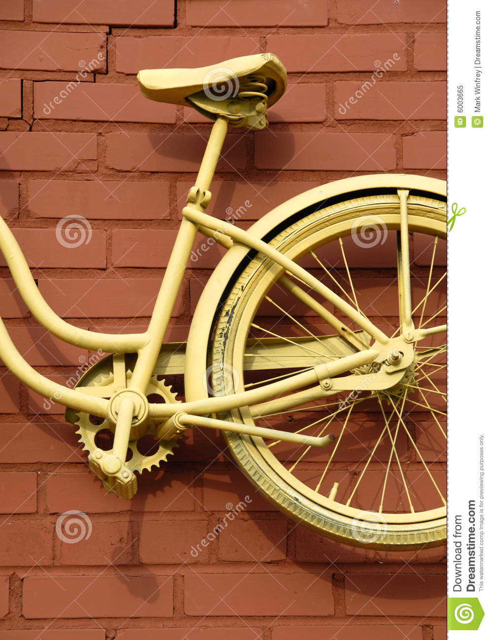 Download Bicycle Abstract stock image. Image of yellow, frame, spokes - 6003665