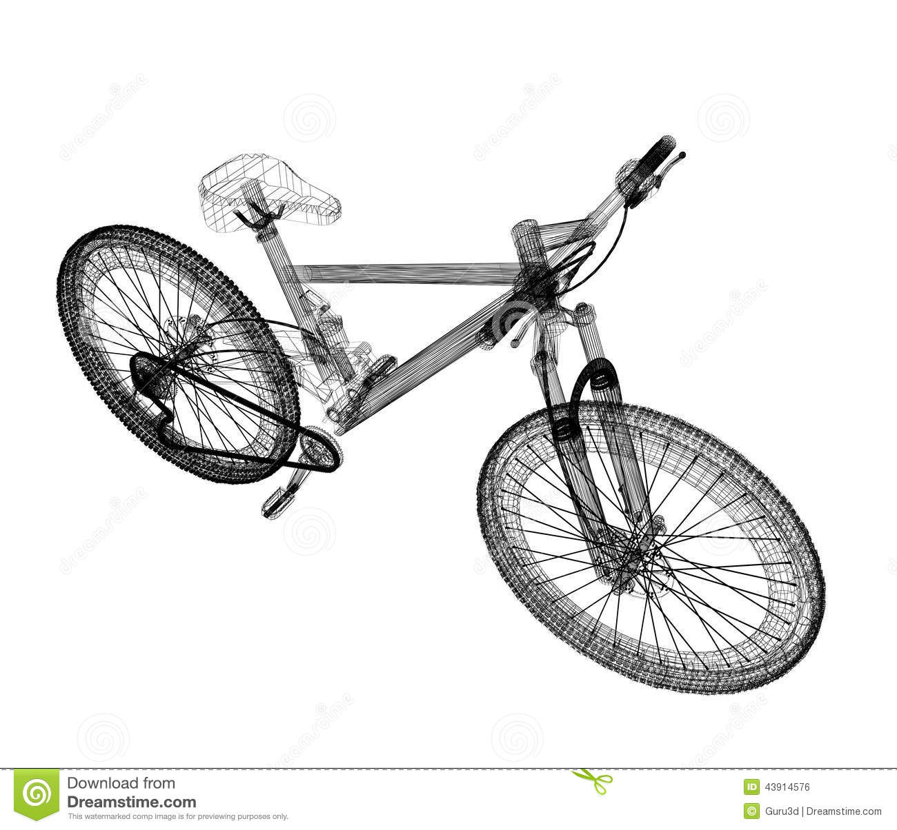 bicycle as d wire frame object isolated 43914576 wire mesh industries 9 on wire mesh industries
