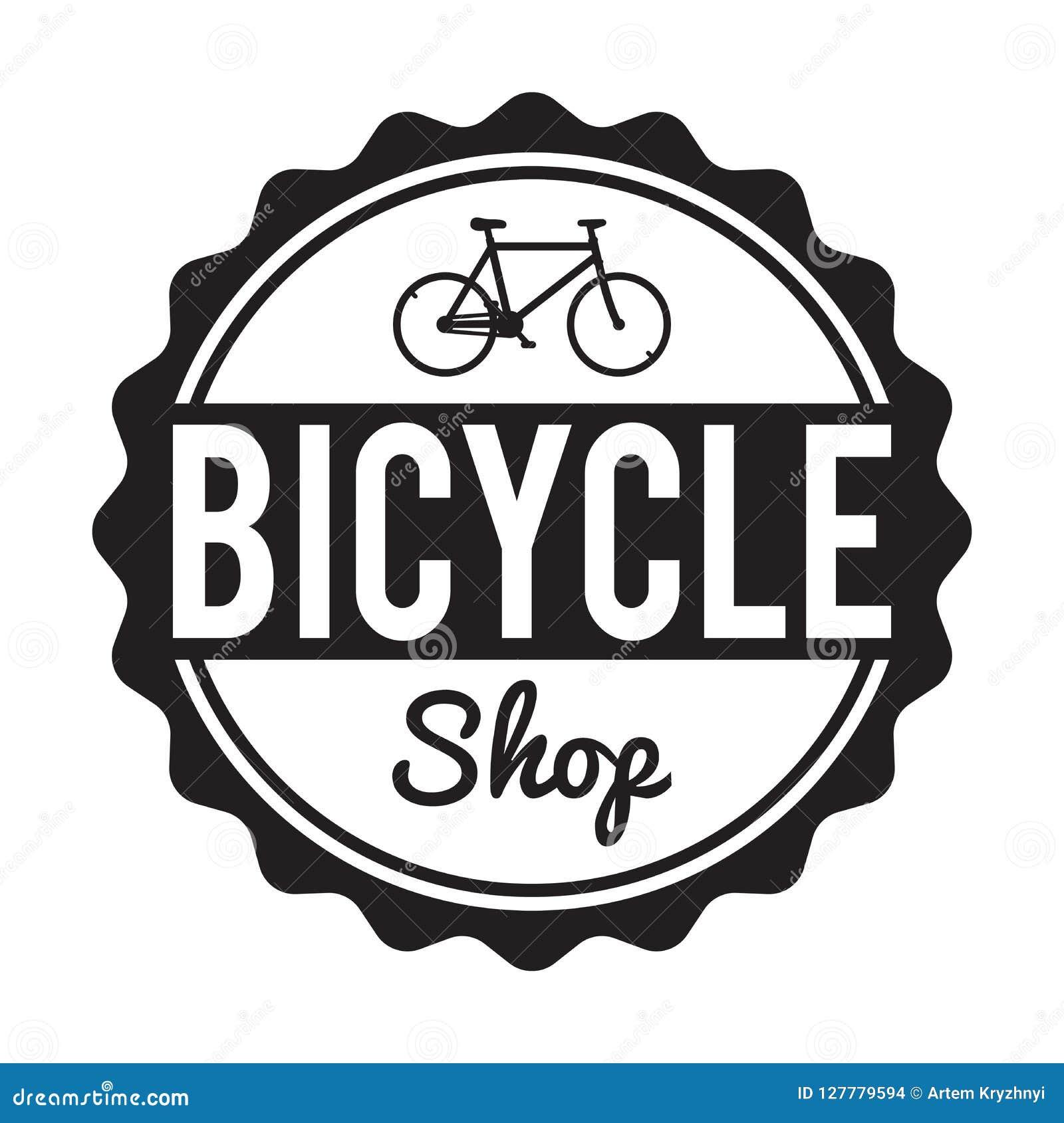 Bicycle Badge/Label. Custom hipster Bike Shop rent