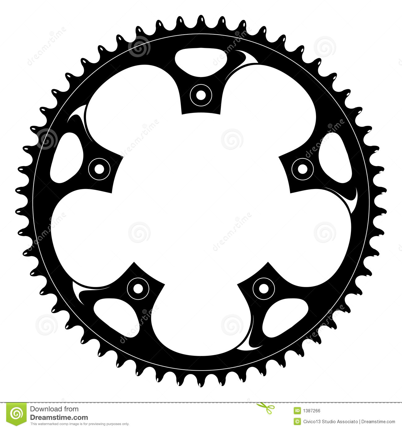 Bike Gear Bicycle black crank Vector