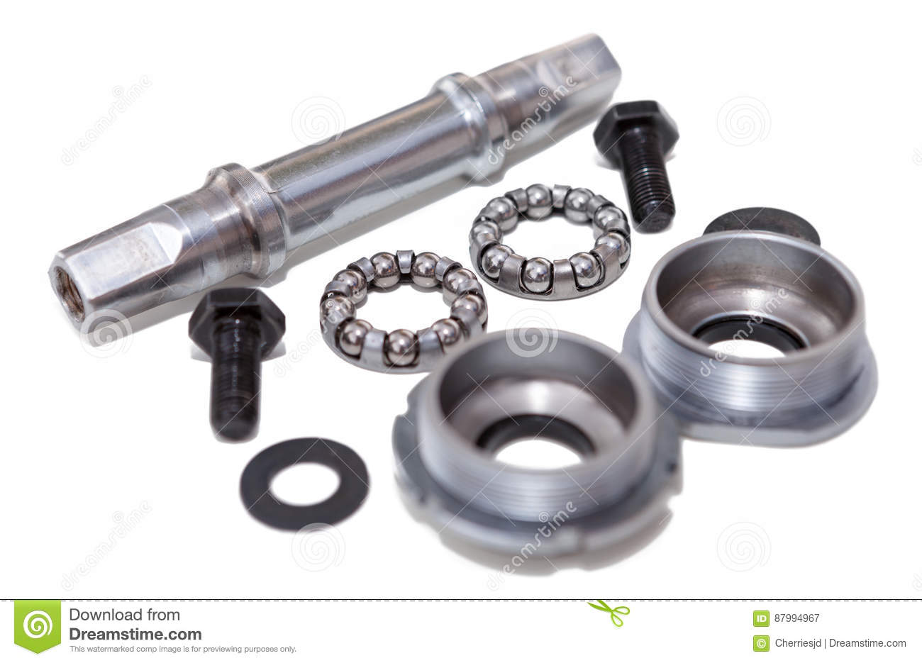 Bicycle Bottom Bracket Bike Repairing And Spare Parts Stock Image