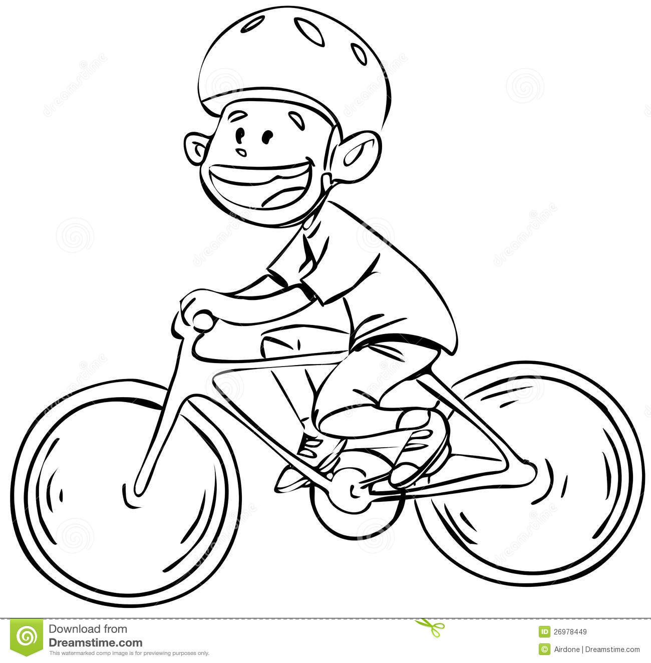 Bicycle Boy In Black And White Stock Vector - Illustration of ... for Bicycle Clipart Black And White  51ane