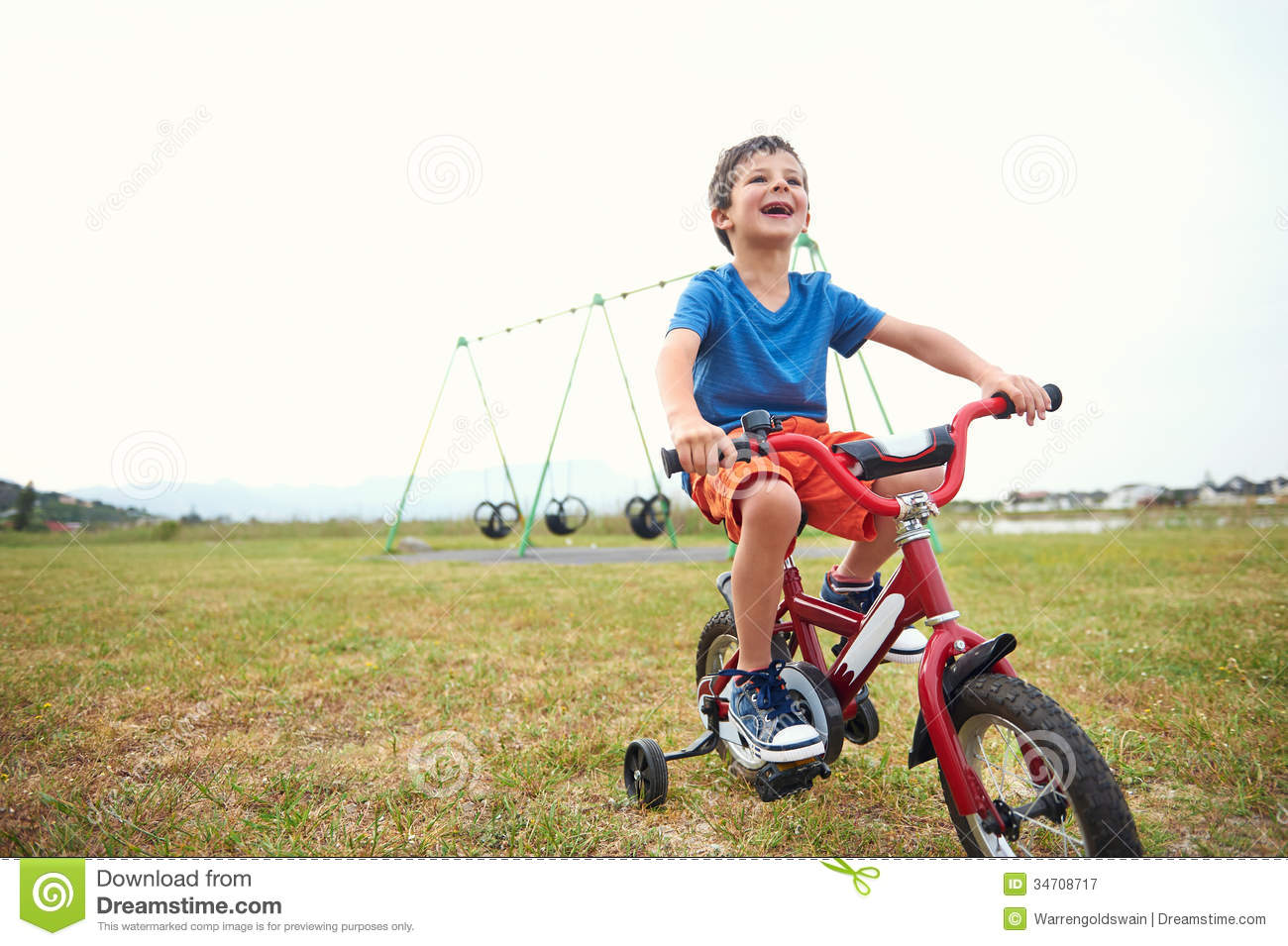 Kid Learning To Ride A Bike Video