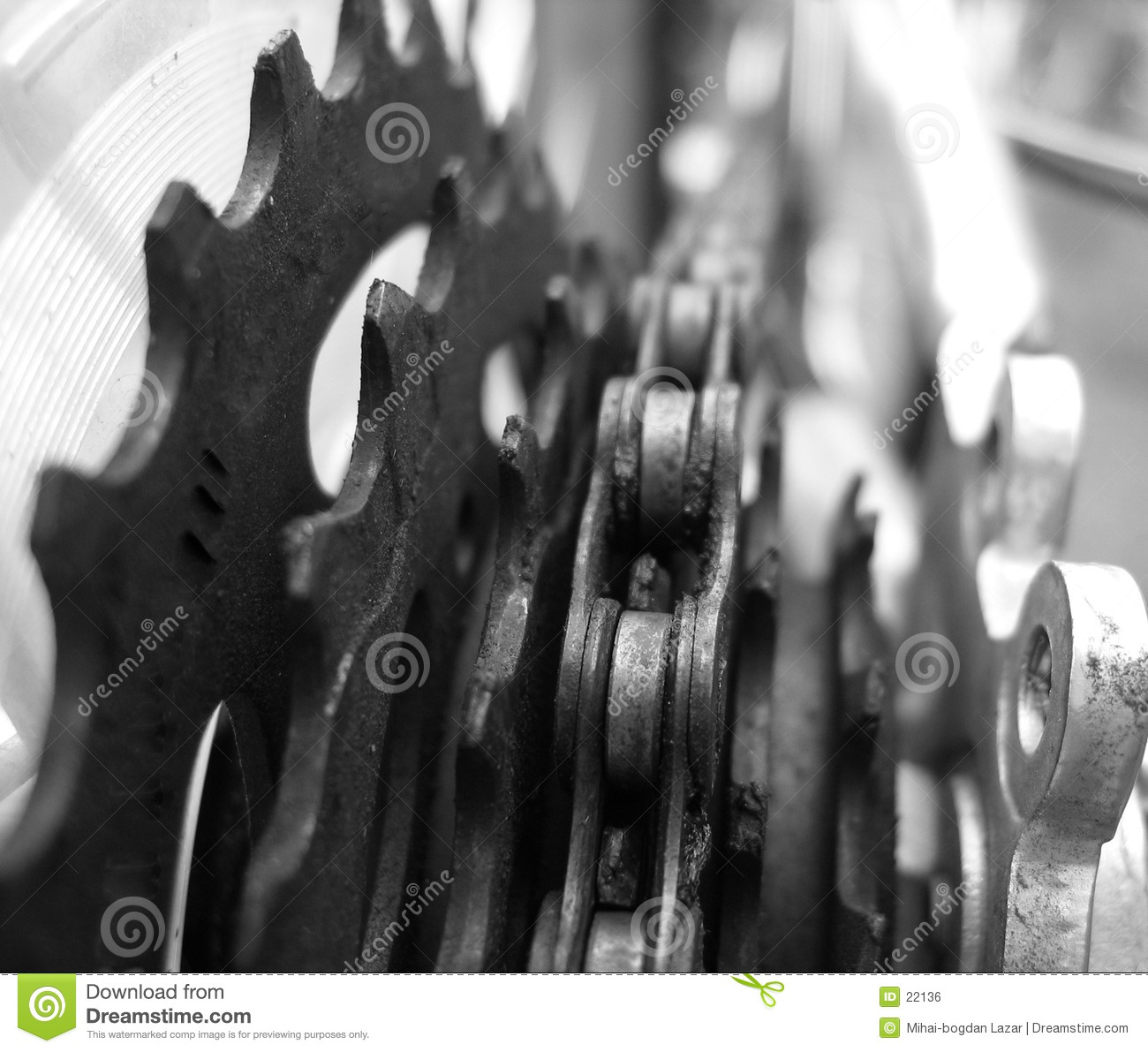 Bicycle chain detail