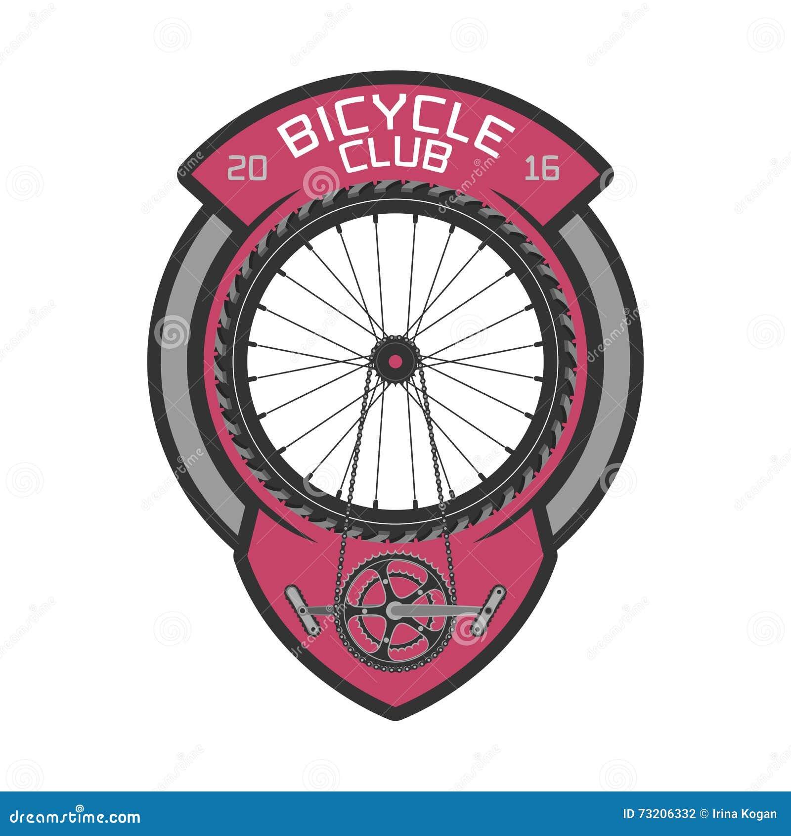 Bicycle Club Vector Template Logo Stock Vector