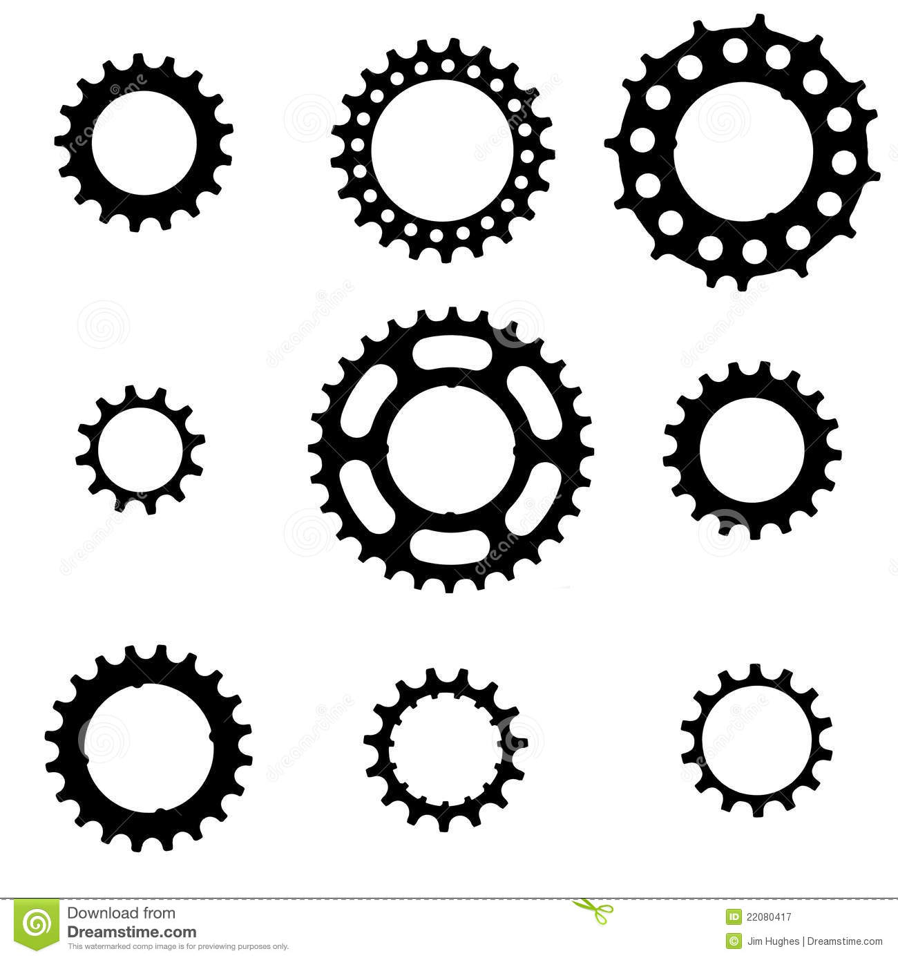 Bike Gear Bicycle cogs Royalty Free