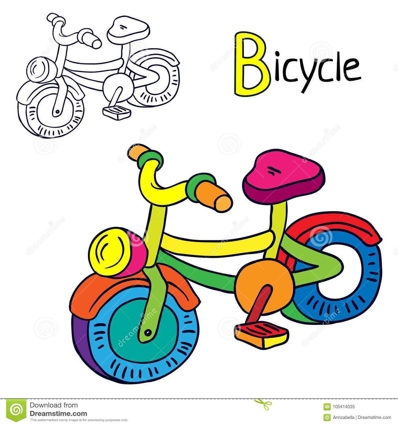 Bike Colouring Book Stock Illustrations 41 Bike Colouring Book Stock Illustrations Vectors Clipart Dreamstime