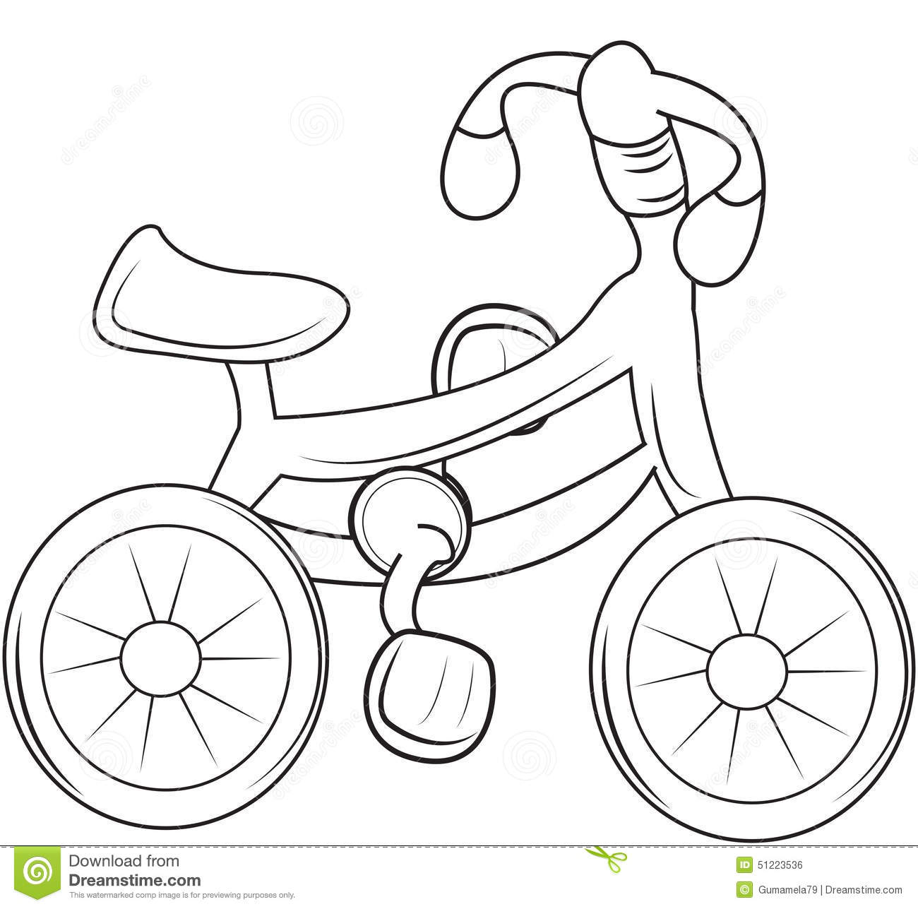 T ball coloring pages - Stock Illustration Bicycle Coloring Page Useful As Book Kids Image51223536 On Cartoon Baseball Tee Ball
