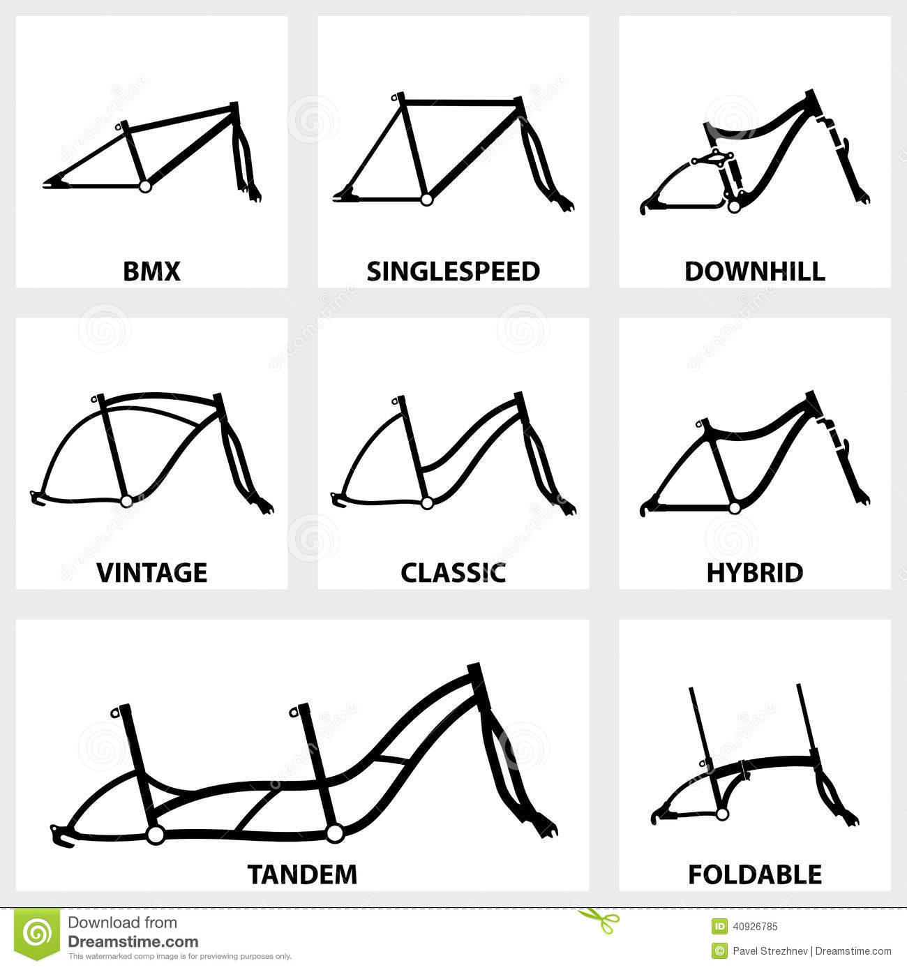Bicycle Frame Icon Stock Vector Image 40926785