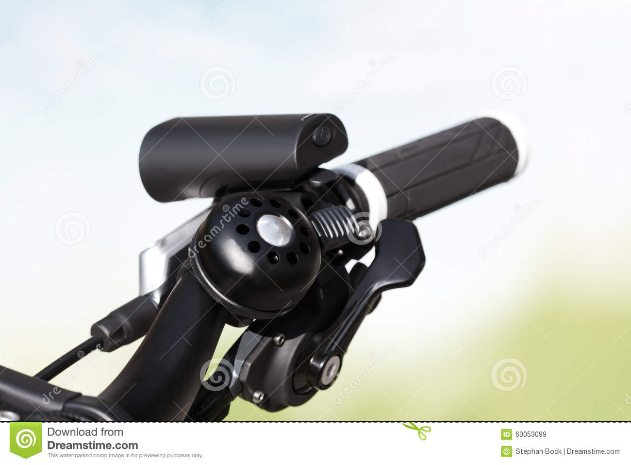 Bicycle, handlebar, headlight, bell, gear shift
