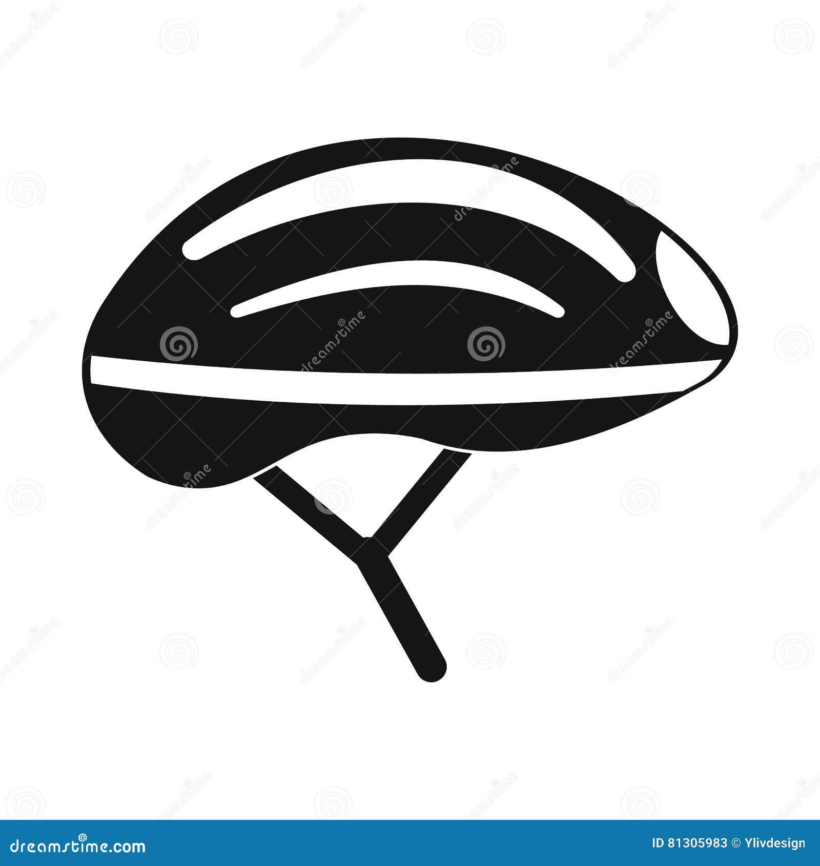 Bicycle Helmet Icon, Simple Style Stock Vector
