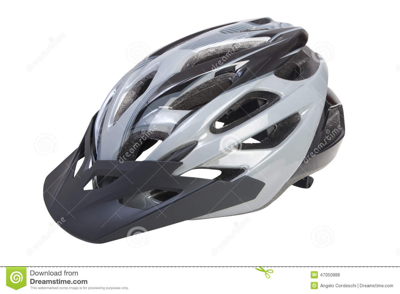 Bicycle Helmet With Visor On White Background Png Available Stock