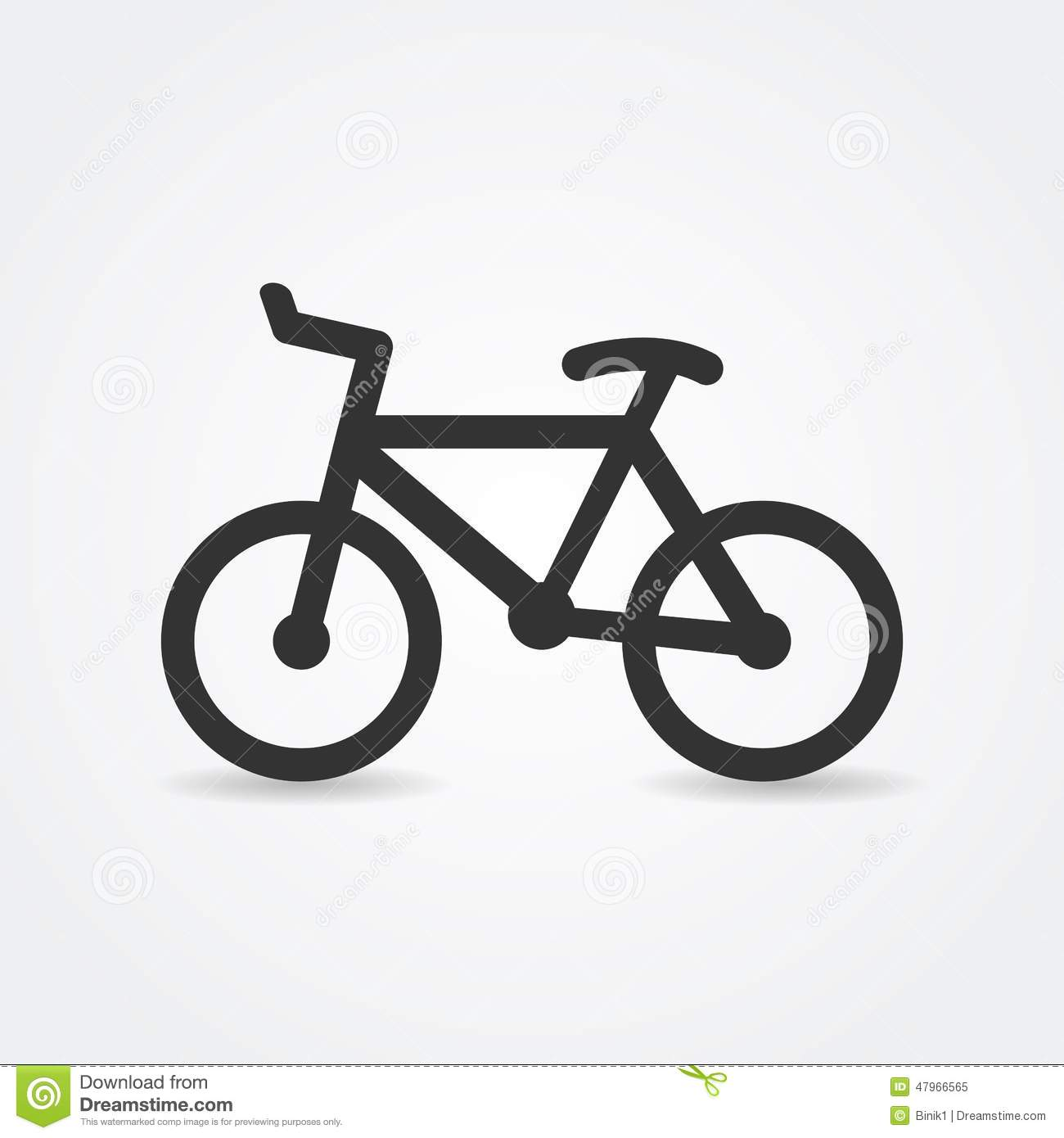 Simple bicycle illustration - photo#14