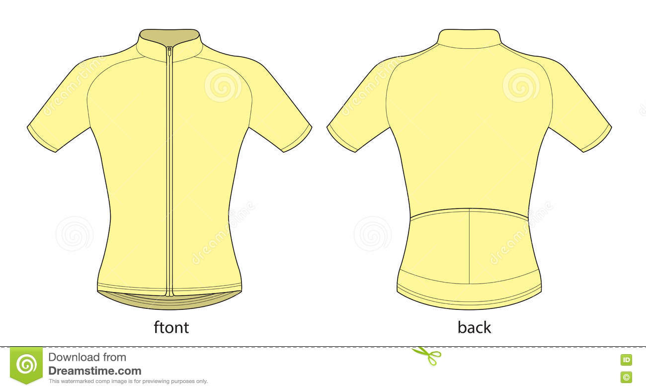 Vector illustration of bicycle short sleeve jersey template. bf9c4c959