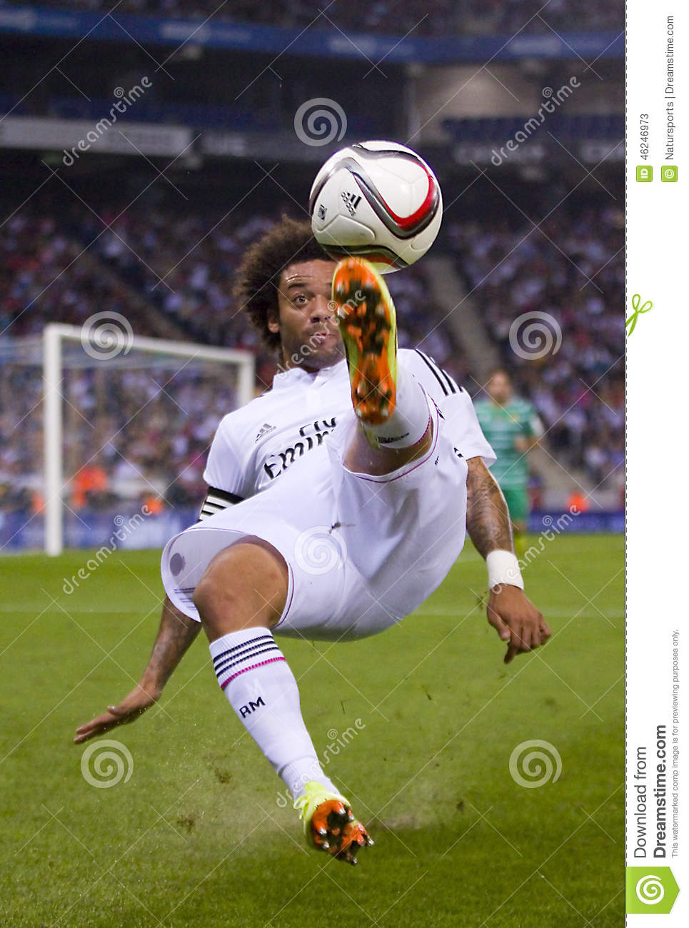 Bicycle kick of Marcelo editorial stock photo Image of match