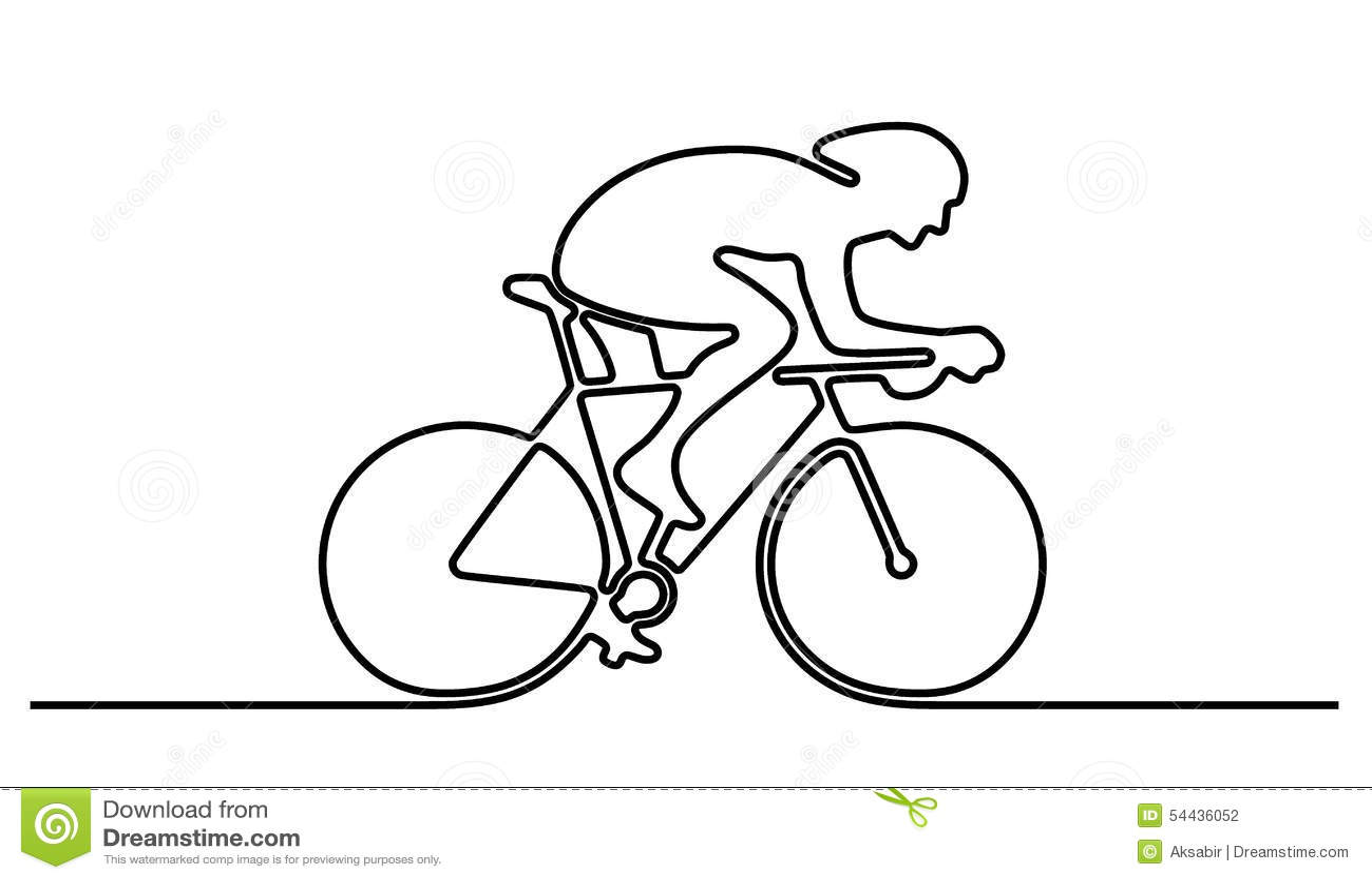 Line Drawing Bike : Bicycle logo stock illustration of champion