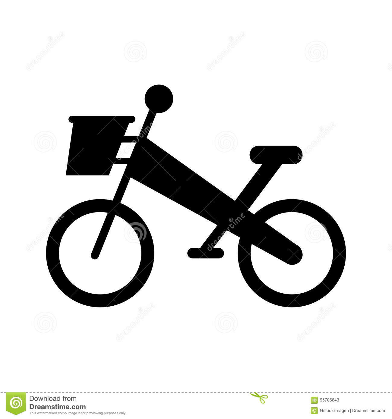 Bicycle Mountain Isolated Icon Stock Vector Illustration Of Sign