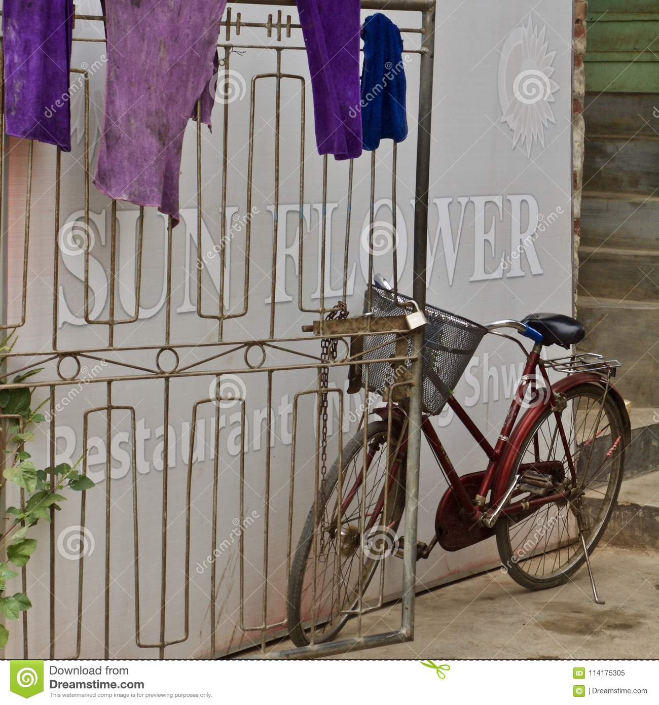 A bicycle in Myanmar