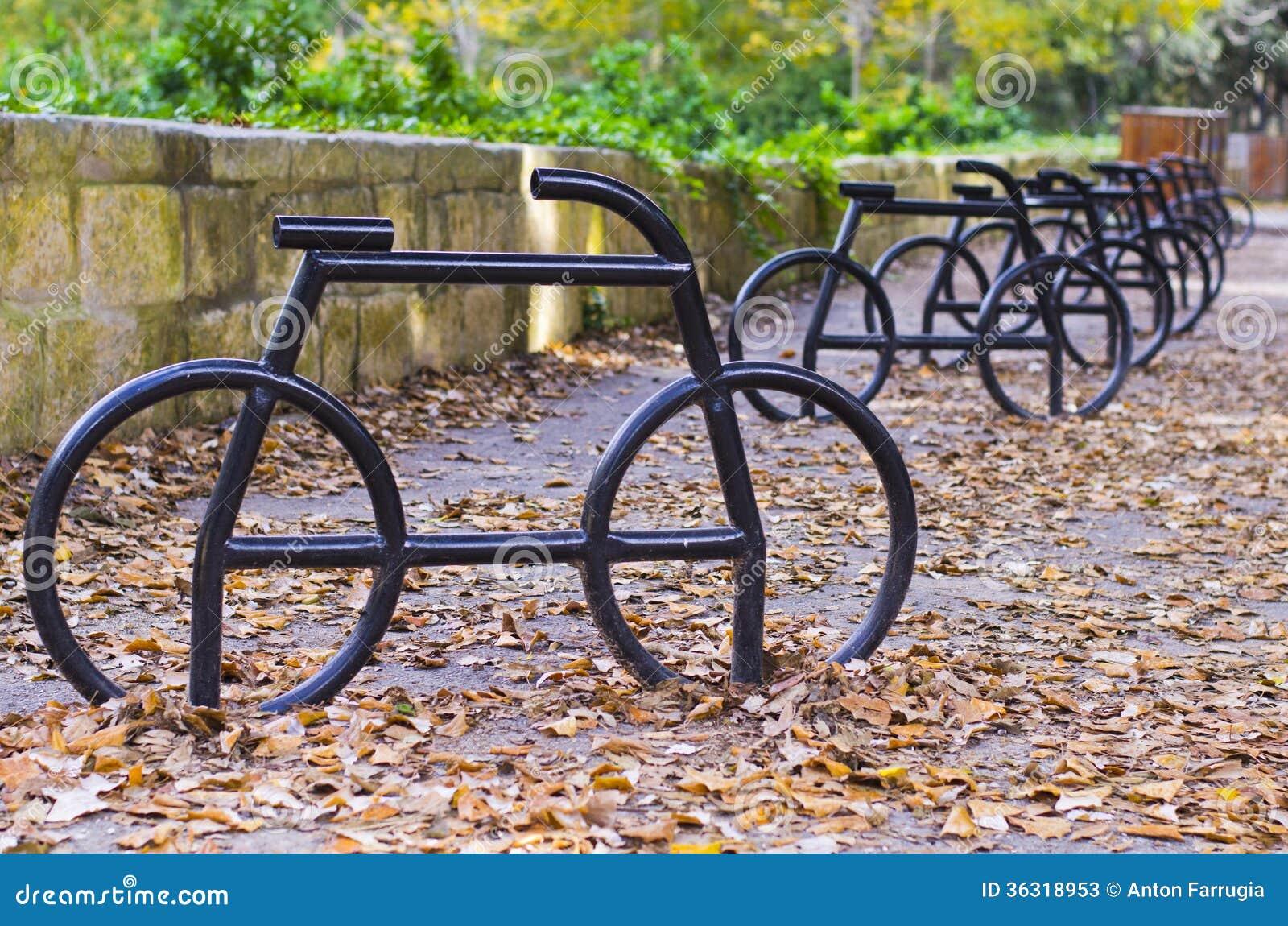 Bicycle Parking Racks Stock Image Image Of Bicycles