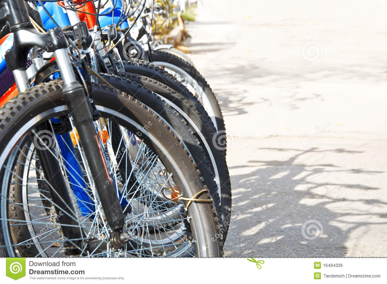 Royalty Free Stock Images: Bicycle parking zone