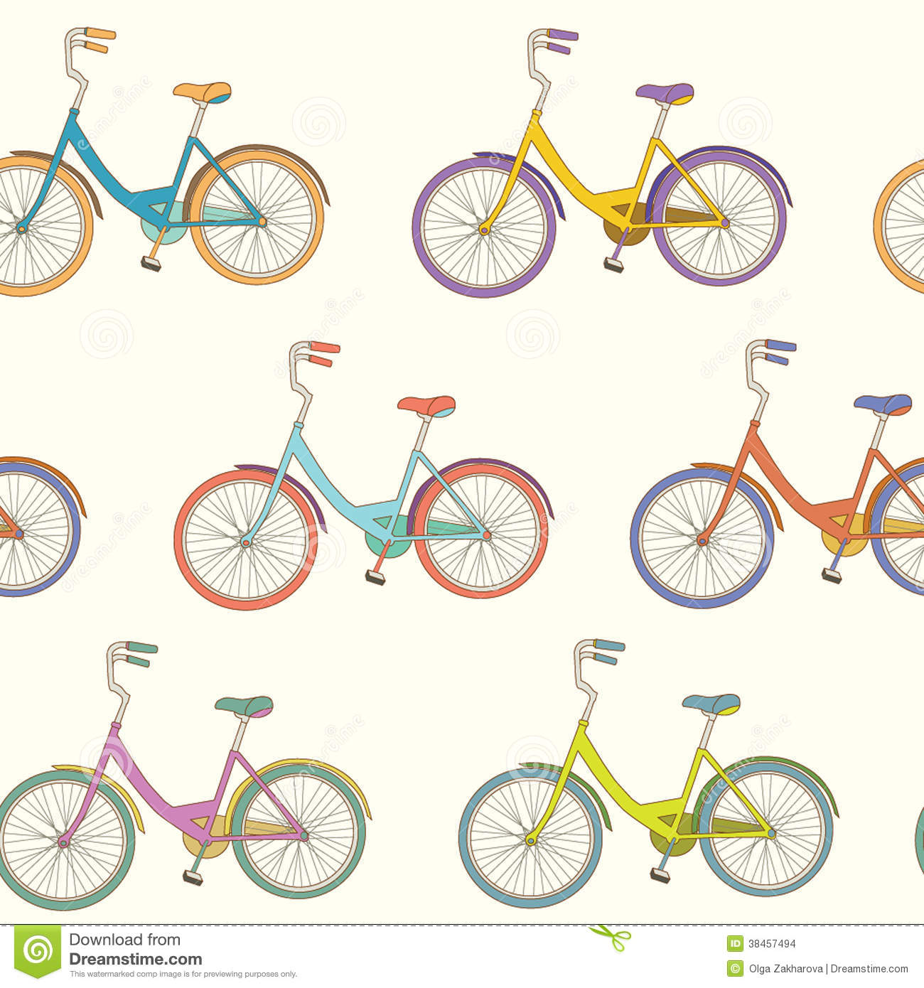 Cute bicycle illustration