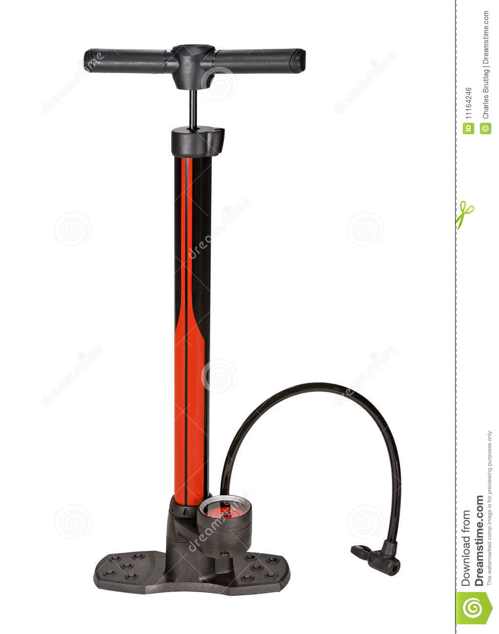 Bicycle Pump Royalty Free Stock Image - Image: 11164246