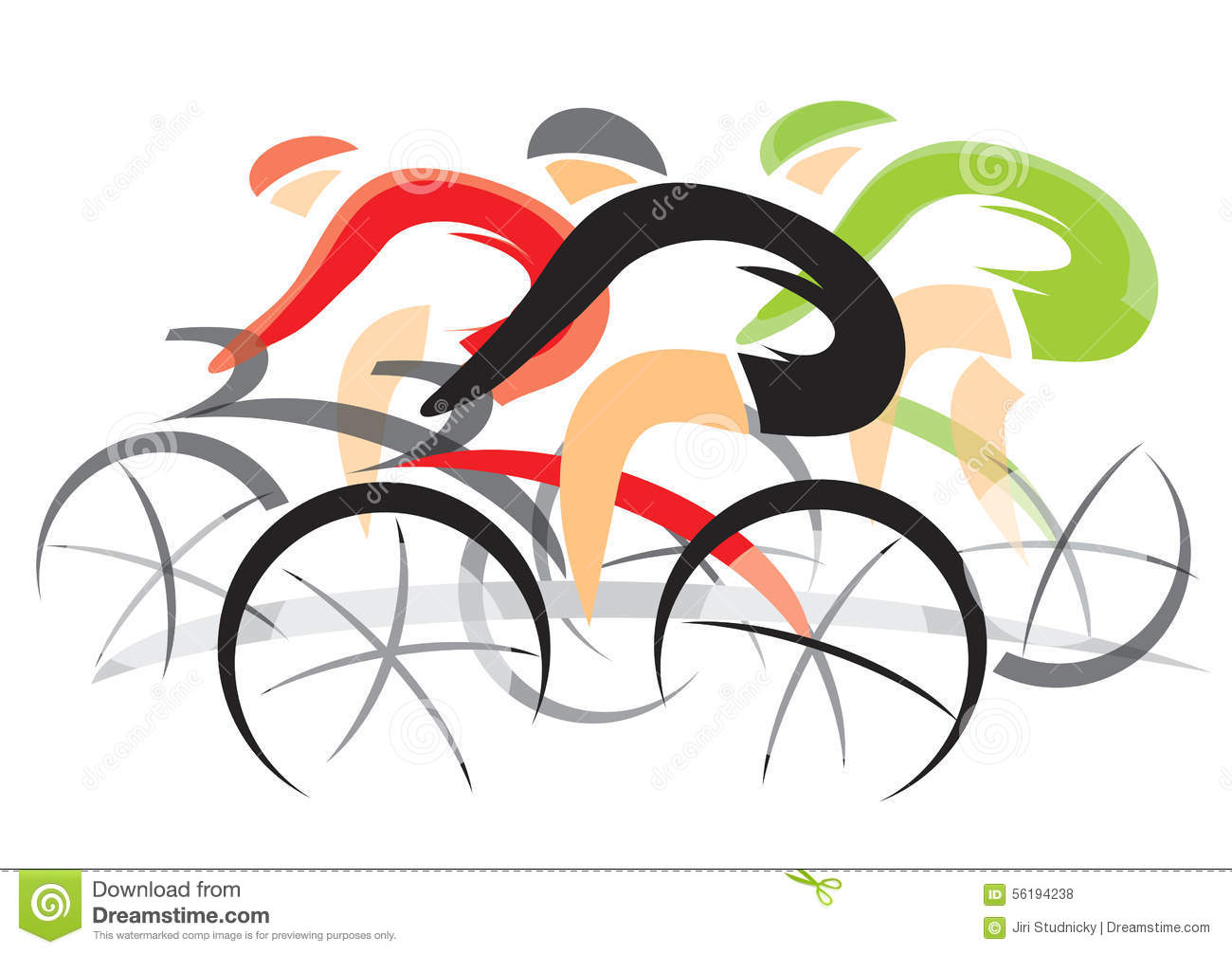 Bicycle Race stock vector. Illustration of racing, green ...