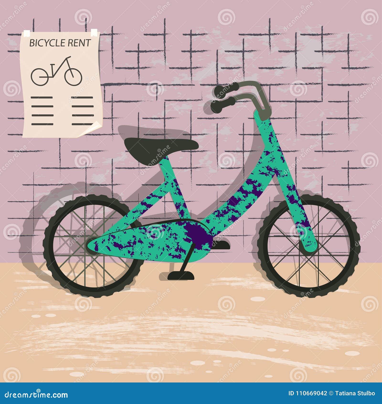Bicycle rent illustration