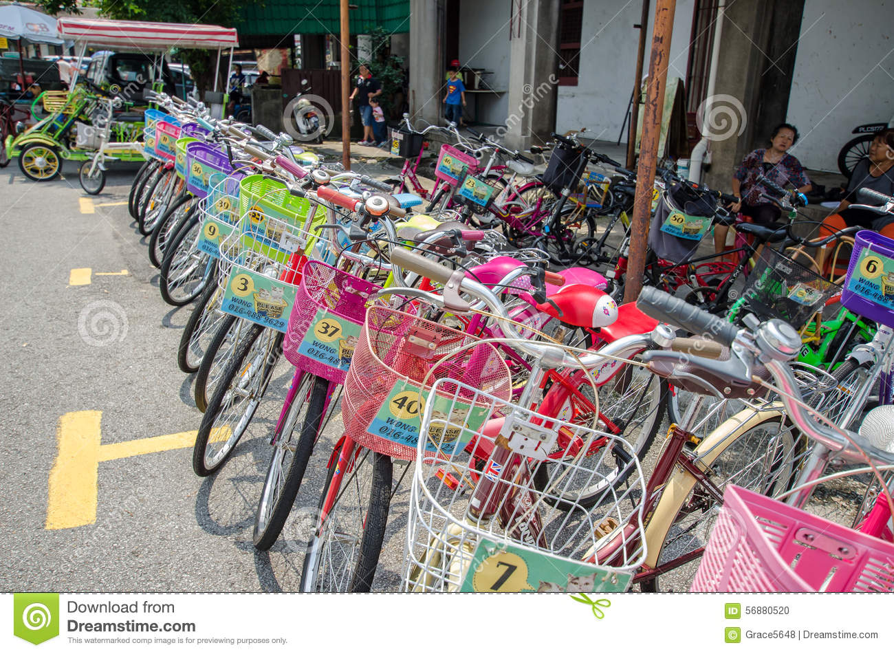 Bicycle Renting Service Available In The Street Art In Georgetown