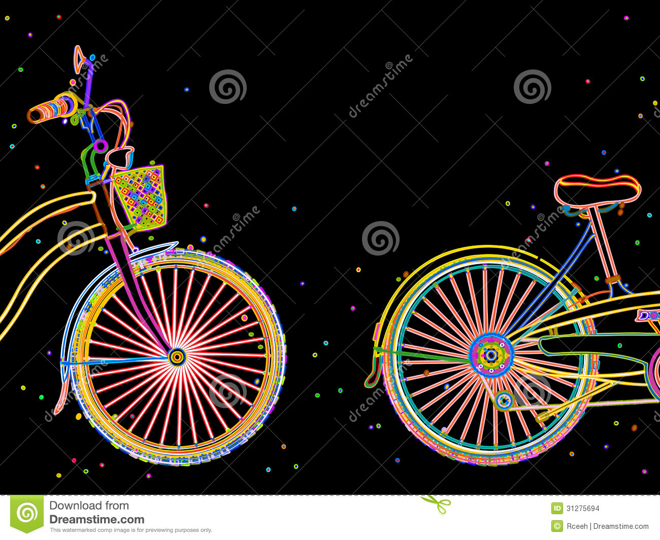 Bicycle illustration retro - photo#19