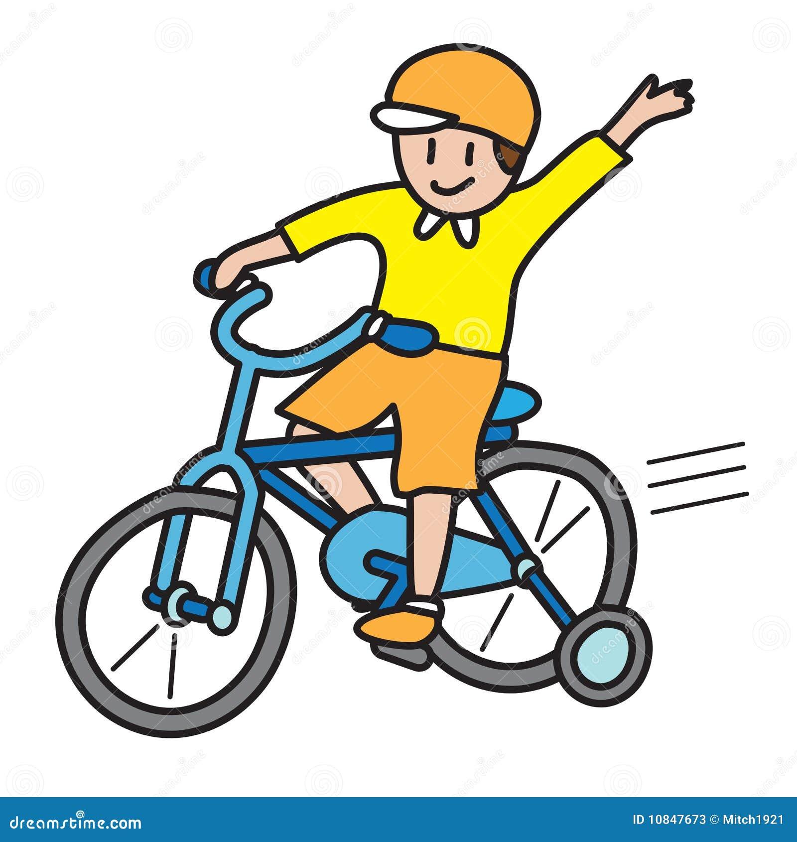 background bicycle boy illustration isolated ride ...
