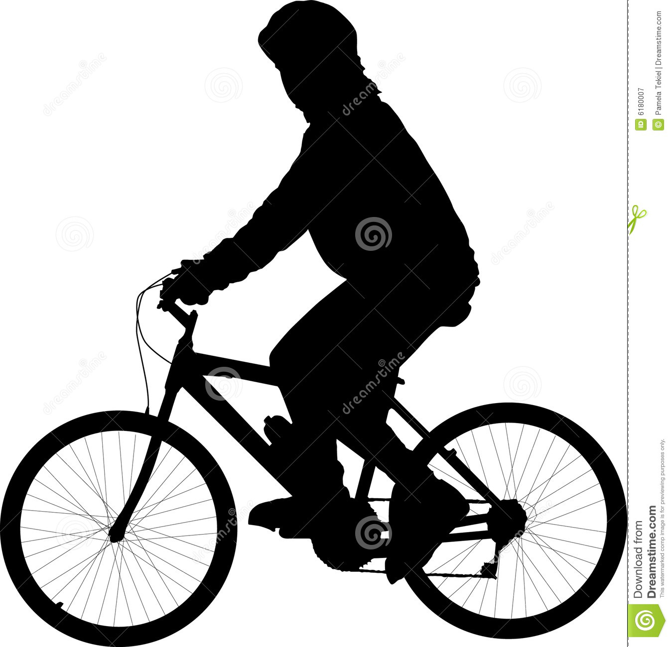 free clip art of bicycle rider - photo #35