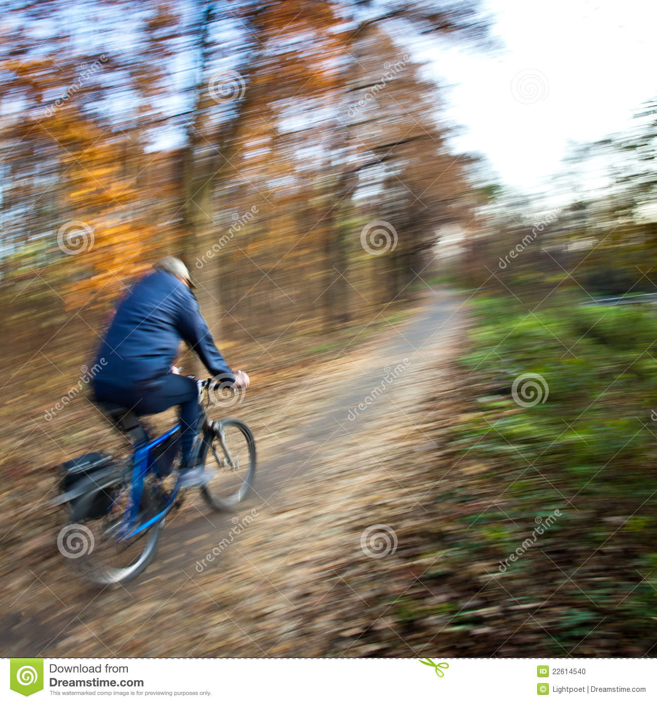 Bicycle Riding Low Angle Motion Blur Royalty Free Stock