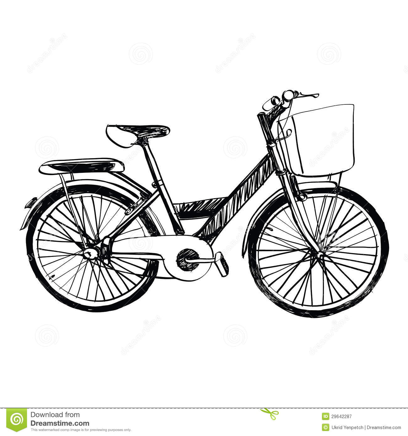 Simple bicycle illustration - photo#23